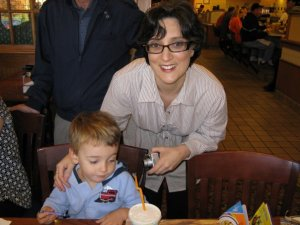 Samuel and I October 2007